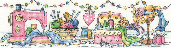 The Sewing Room Counted Cross Stitch Kit, Heritage Crafts -Karen Carter