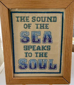 The Sound of the Sea Counted Cross Stitch Kit, Emma Louise Art Stitch