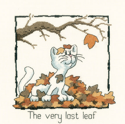 The Very Last Leaf Cross Stitch Kit, Heritage Crafts -Peter Underhill