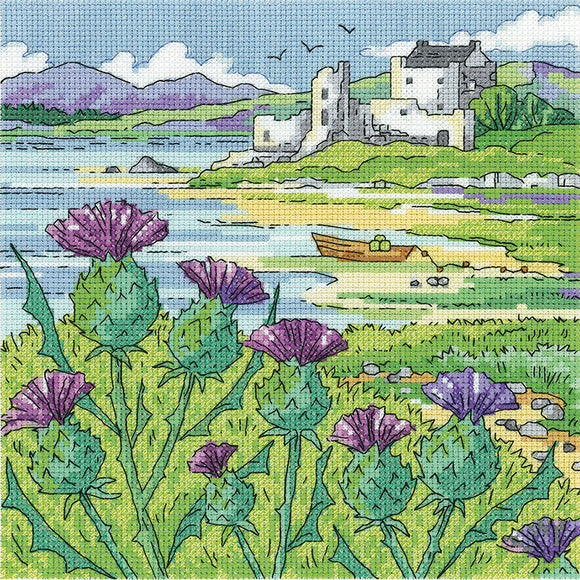 Thistle Shore Cross Stitch Kit, Heritage Crafts -Karen Carter