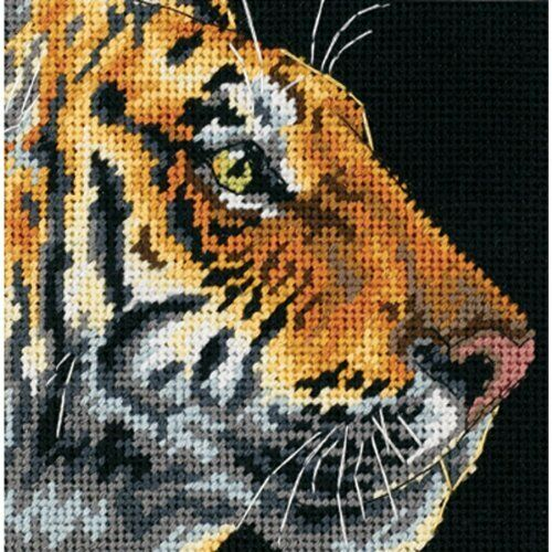 Tiger Profile Tapestry Needlepoint Kit, Dimensions D07225