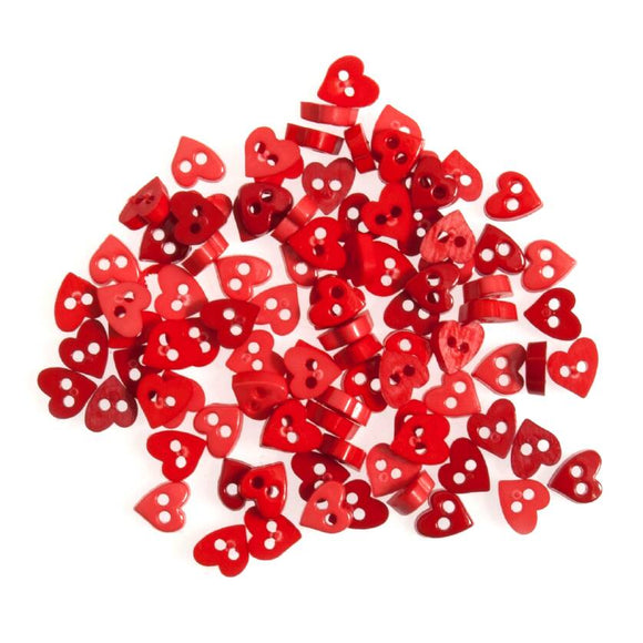Tiny Buttons Embellishments - Red Heart 6mm Button Pack