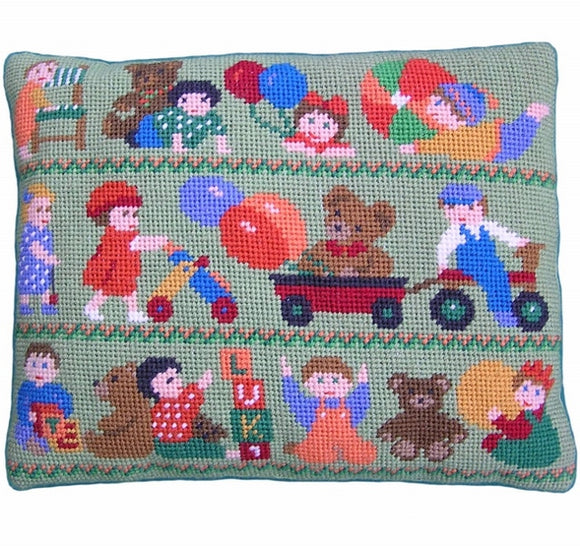 Toddlers at Play Tapestry Kit, Needlepoint Kit, The Fei Collection