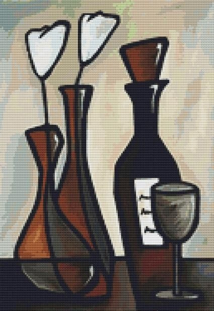 Retro Elegance, Modern Cross Stitch Kit -Thomas Fedro