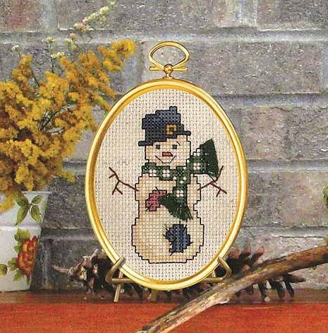 Top Hat Snowman Cross Stitch Kit, Janlynn 021-1798