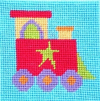 Train Tapestry Kit Starter, The Stitching Shed