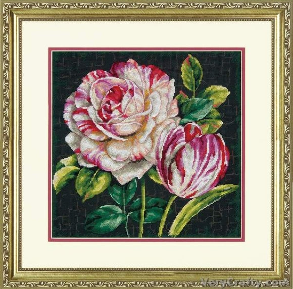 Tulip Drama Cross Stitch Kit, Dimensions D70-35314