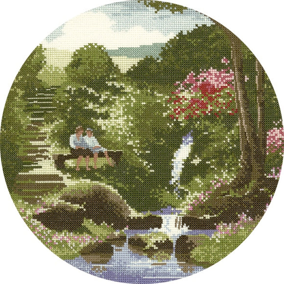 Two's Company Cross Stitch Kit, John Clayton Circles, Heritage Crafts