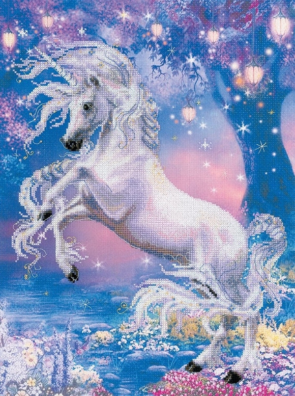 Unicorn Cross Stitch Kit, Riolis RPT-0024
