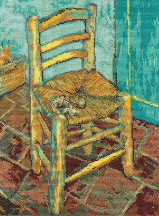 Van Gogh's Chair Cross Stitch Kit, DMC BL1066/71