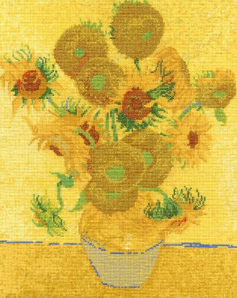 Van Gogh Sunflowers, Counted Cross Stitch Kit, DMC BL1063/71