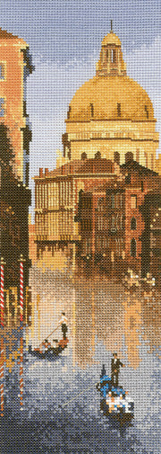 Venice Cross Stitch Kit, John Clayton Internationals, Heritage Crafts