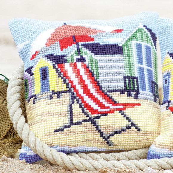 Beach Chair Seaside CROSS Stitch Tapestry Kit, Vervaco PN-0145641