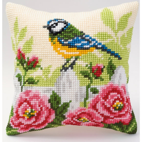 Bluetit and Roses CROSS Stitch Tapestry Kit, Vervaco PN-0008481