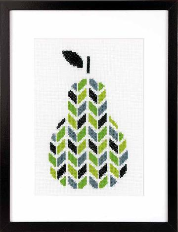 Pear Counted Cross Stitch Kit, Vervaco pn-0156110