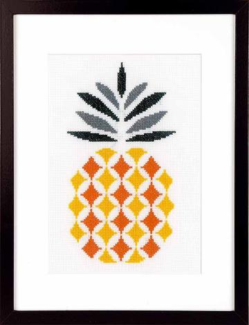 Pineapple Counted Cross Stitch Kit, Vervaco pn-0156112