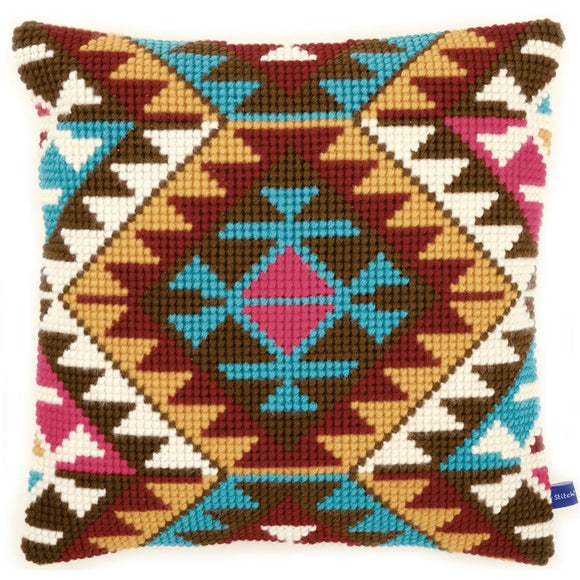 Ethnic Print CROSS Stitch Tapestry Kit, Vervaco PN-0146715