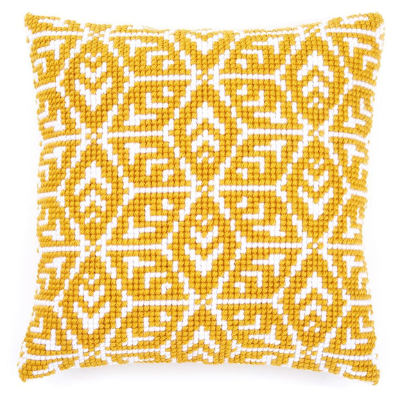 Geometric Gold CROSS Stitch Tapestry Kit, Vervaco PN-0166924