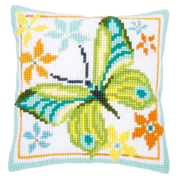 Green Butterfly CROSS Stitch Tapestry Kit, Vervaco PN-0163342