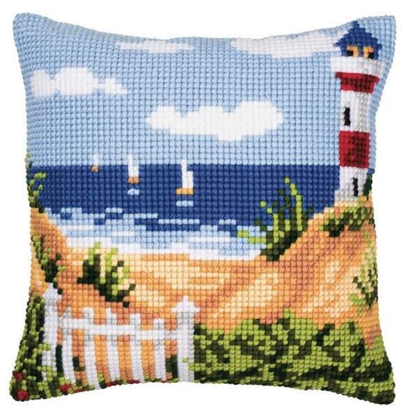 DIY Vervaco stamped cross stitch kit cushion Winter scenery