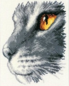 Majesty II, Cats Stare Counted Cross Stitch Kit, Vervaco pn-0011869