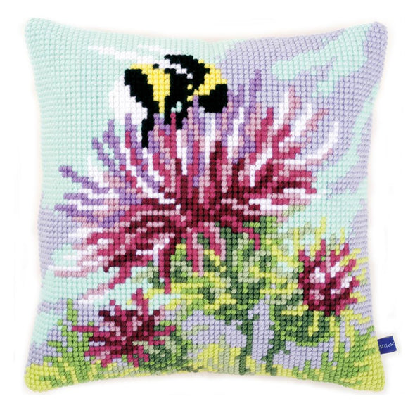 Thistle and Bumble Bee CROSS Stitch Tapestry Kit, Vervaco PN-0149686