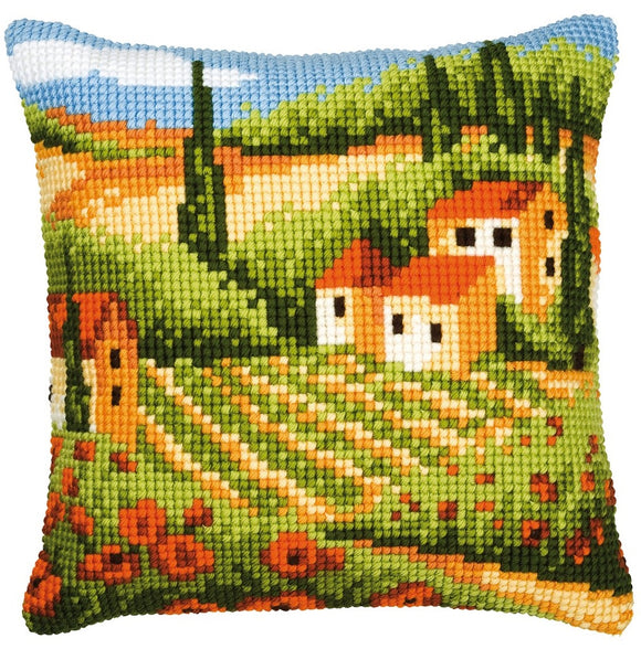 Tuscan Landscape CROSS Stitch Tapestry Kit, Vervaco PN-0008768