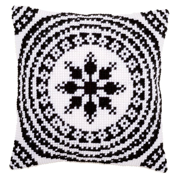 White and Black CROSS Stitch Tapestry Kit, Vervaco pn-0155756