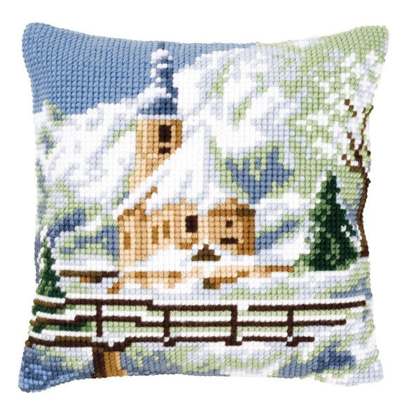 Winter Church CROSS Stitch Tapestry Kit, Vervaco pn-0021806