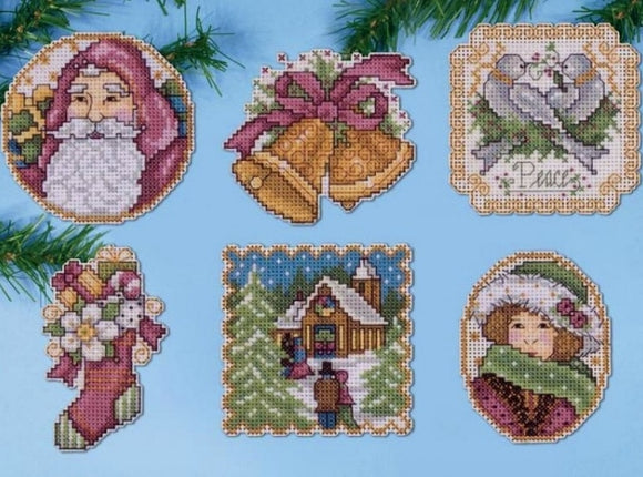 Victorian Christmas Ornaments Cross Stitch Kit, Design Works 1688