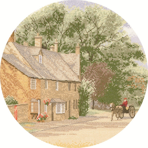 Village Lane Cross Stitch Kit, John Clayton Circles Heritage Crafts