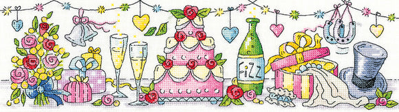 Wedding Day Counted Cross Stitch Kit, Heritage Crafts -Karen Carter