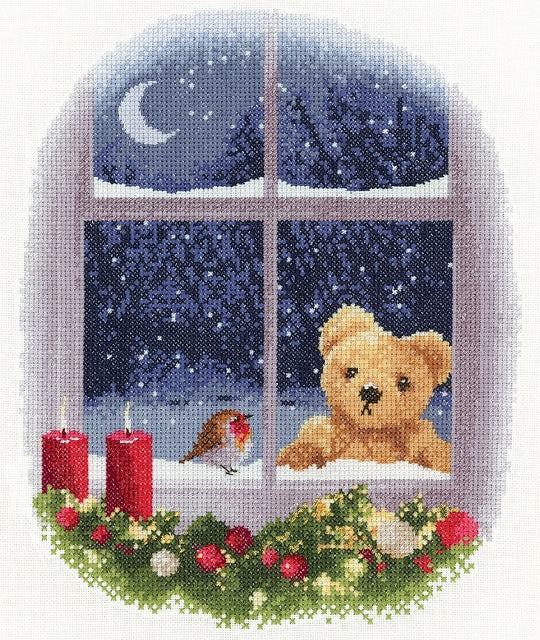 William and Robin Cross Stitch Kit, Heritage Crafts, John Clayton
