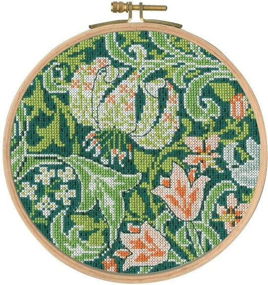 William Morris Golden Lily Counted Cross Stitch Kit, DMC BL1176/77