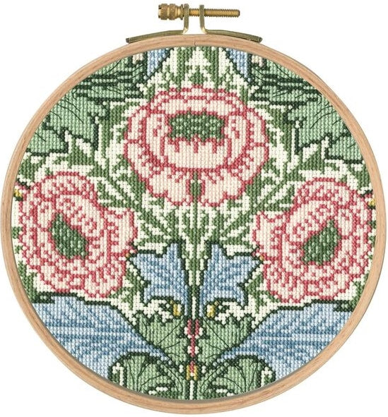 William Morris Myrtle Counted Cross Stitch Kit, DMC BL1175/77