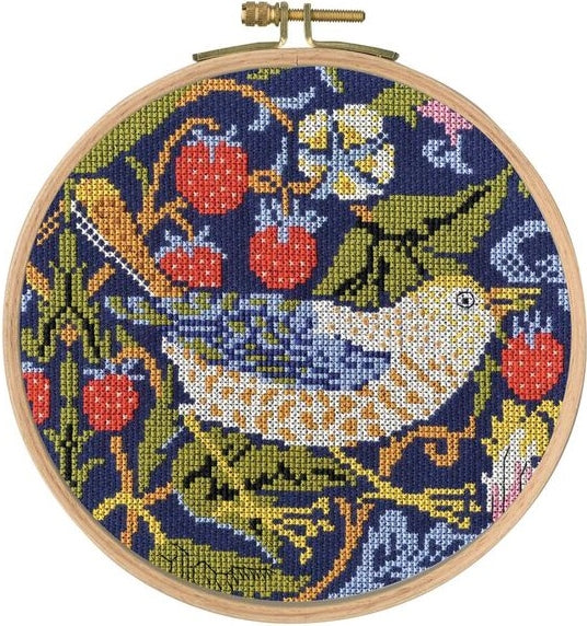 William Morris Strawberry Thief Counted Cross Stitch Kit, DMC BL1174/77