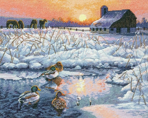 Winter Morning Cross Stitch Kit, Dimensions D70-35304