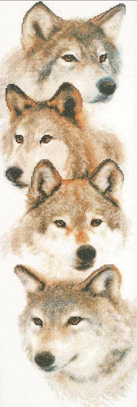 Wolf Pack Cross Stitch Kit, Janlynn 013-0325