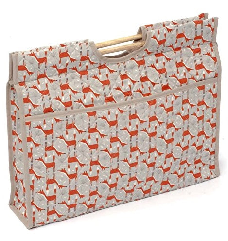 Woodland Fox Needlework Bag, Knitting Organiser, Craft Bag