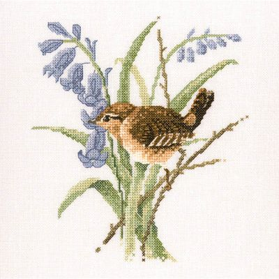 Wren Cross Stitch Kit, Heritage Crafts - David Merry