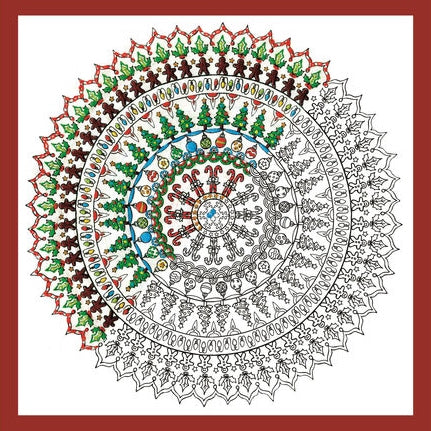 Zenbroidery Embroidery Kit, Christmas Mandala 4028/4033