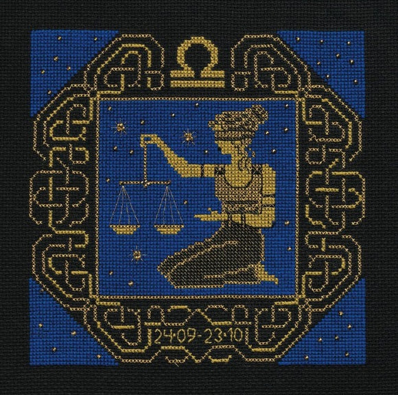 Zodiac Libra Counted Cross Stitch Kit Riolis R1207
