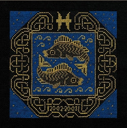 Zodiac Pisces Counted Cross Stitch Kit Riolis R1212