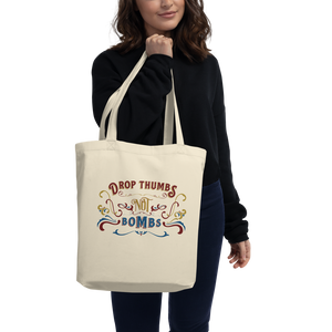 Drop Thumbs Not Bombs Old Time Music Tote Bag