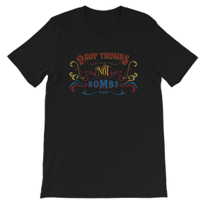 Drop Thumbs Not Bombs old time music t-shirt flatwoods 1927
