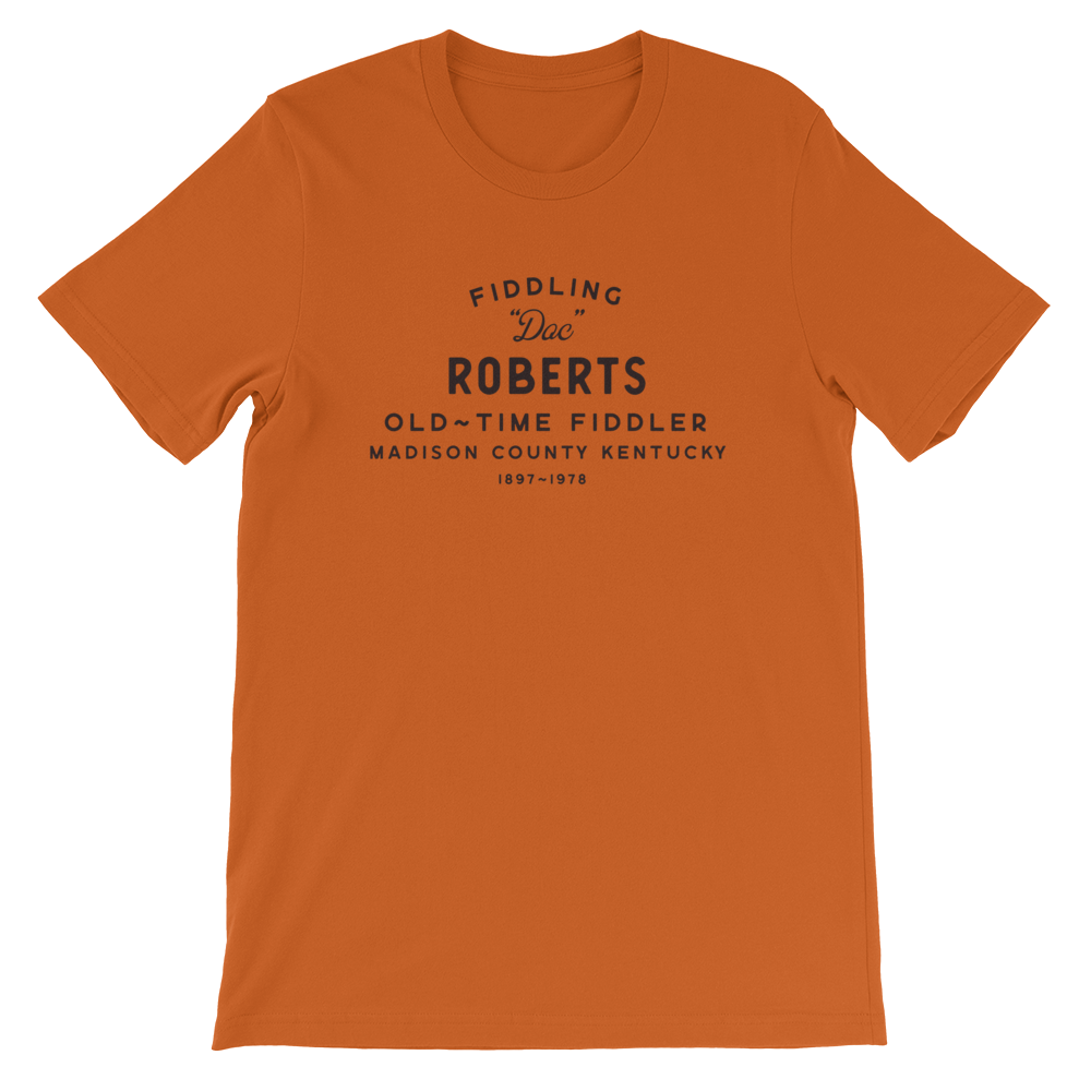 "Fiddling ""Doc"" Roberts Old Time Music T-Shirt"