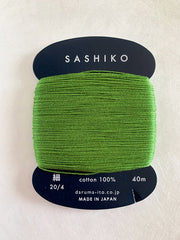 Sashiko Thread - Daruma - Thin Weight - 40m - # 227 Green Tea