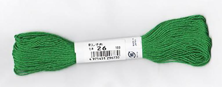 Sashiko Thread - Olympus 20m - Solid Color - # 26 Christmas Green
