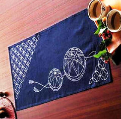 Sashiko Kit - Table Runner  # 261 - Temari Balls & Seven Treasues