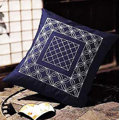 Sashiko Pillow Kit # 031 - Hanabashi - Navy